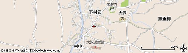 青森県弘前市大沢(下村元)周辺の地図