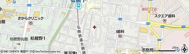 青森県弘前市富士見町周辺の地図