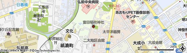 富田稲荷神社周辺の地図
