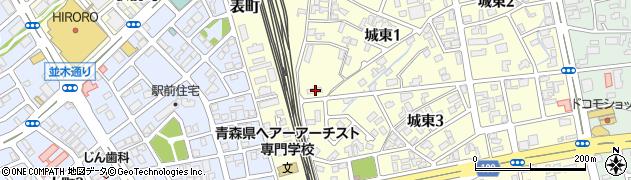 東北電力城東寮周辺の地図