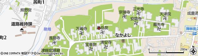 嶺松院周辺の地図