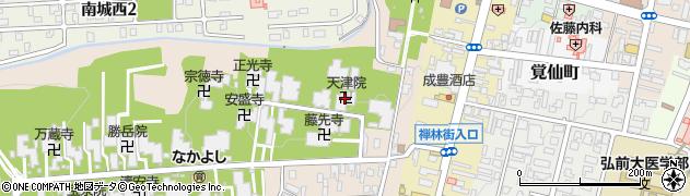 天津院周辺の地図