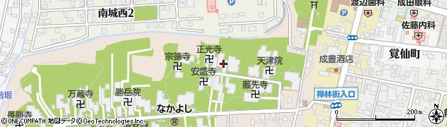 川竜院周辺の地図