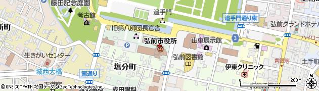青森県弘前市周辺の地図