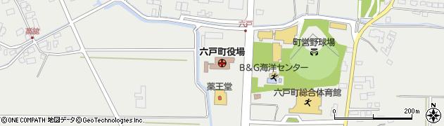 青森県六戸町(上北郡)周辺の地図