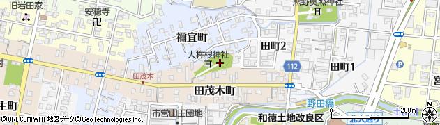 大杵根神社周辺の地図