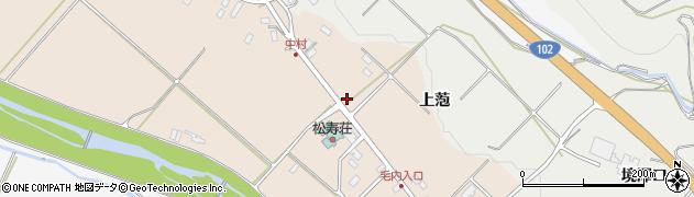 青森県黒石市下山形周辺の地図