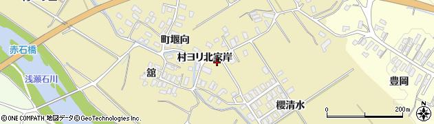 青森県黒石市石名坂村ヨリ北家岸周辺の地図