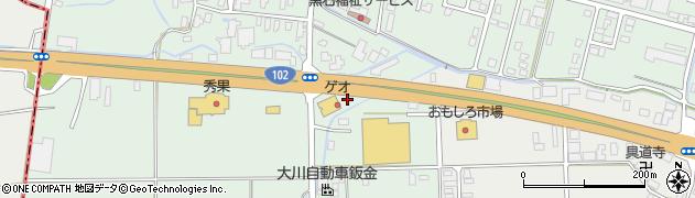 青森県黒石市中川(桜井)周辺の地図