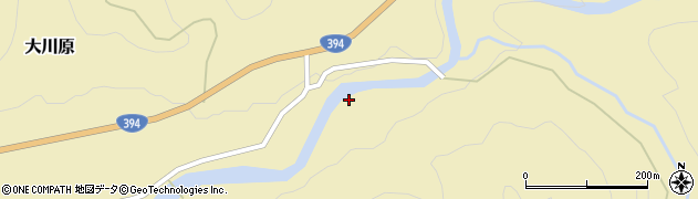 青森県黒石市大川原(木ノキ澤)周辺の地図