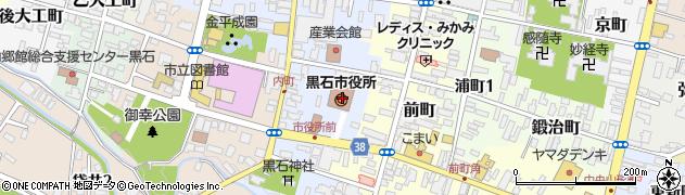 青森県黒石市周辺の地図