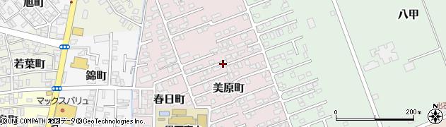 青森県黒石市美原町周辺の地図