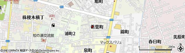青森県黒石市若葉町周辺の地図