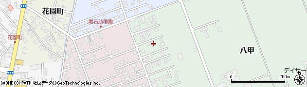 青森県黒石市八甲周辺の地図