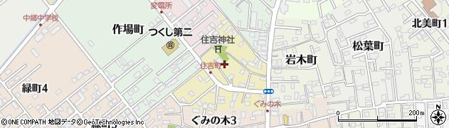 青森県黒石市住吉町周辺の地図