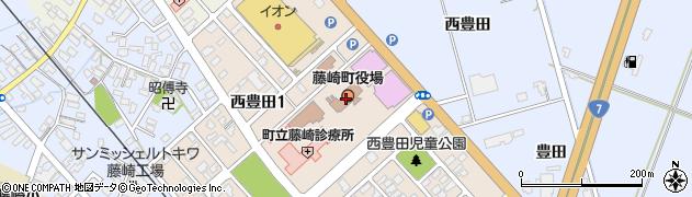 青森県藤崎町(南津軽郡)周辺の地図