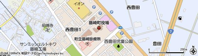 青森県南津軽郡藤崎町周辺の地図