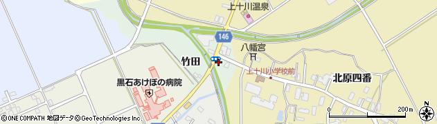 青森県黒石市東野添(竹田)周辺の地図