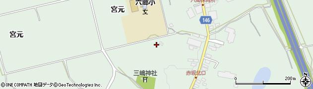 青森県黒石市三島(宮岸)周辺の地図