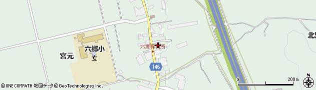 青森県黒石市赤坂北野崎周辺の地図