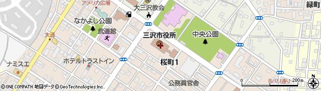 青森県三沢市周辺の地図