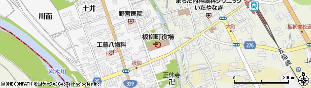 青森県北津軽郡板柳町周辺の地図