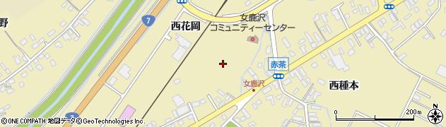 青森県青森市浪岡大字女鹿沢(西花岡)周辺の地図