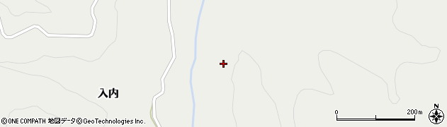 青森県青森市入内周辺の地図
