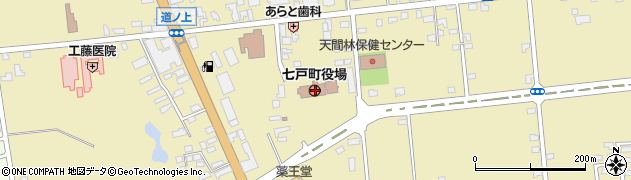 青森県上北郡七戸町周辺の地図