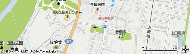 鶴田八幡宮周辺の地図