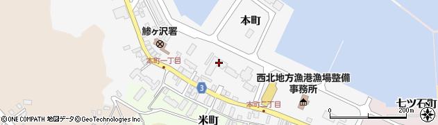青森県西津軽郡鰺ヶ沢町周辺の地図