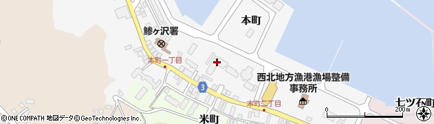 青森県鰺ヶ沢町(西津軽郡)周辺の地図