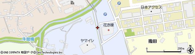 青森県青森市牛館(松枝)周辺の地図