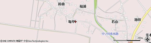 青森県つがる市森田町中田周辺の地図