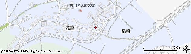青森県つがる市柏上古川花森周辺の地図