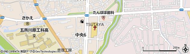 モスバーガー五所川原店周辺の地図