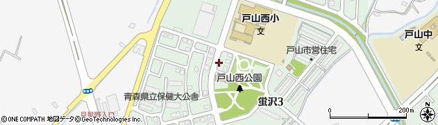 青森県青森市蛍沢周辺の地図