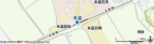 青森県つがる市周辺の地図