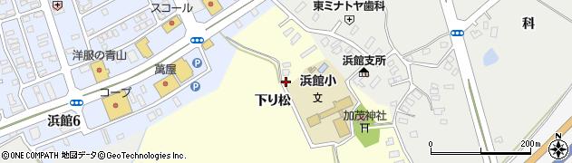 青森県青森市田屋敷(下り松)周辺の地図