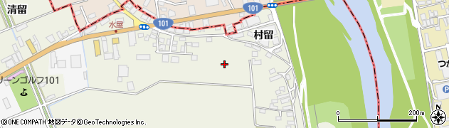 青森県つがる市柏鷺坂周辺の地図