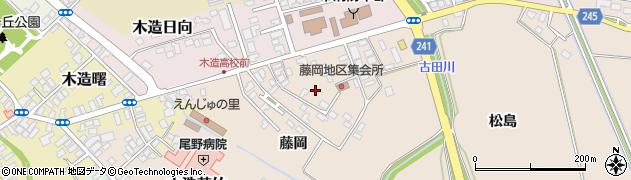 青森県つがる市柏玉水藤岡周辺の地図