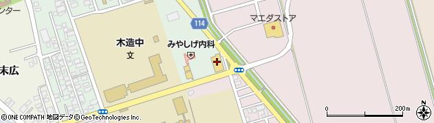 青森県つがる市木造浮巣54周辺の地図
