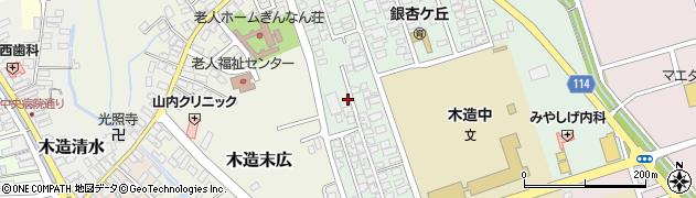 青森県つがる市木造浮巣10周辺の地図