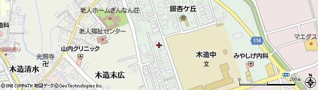 青森県つがる市木造浮巣16周辺の地図