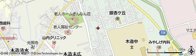 青森県つがる市木造浮巣11周辺の地図