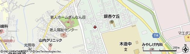 青森県つがる市木造浮巣周辺の地図