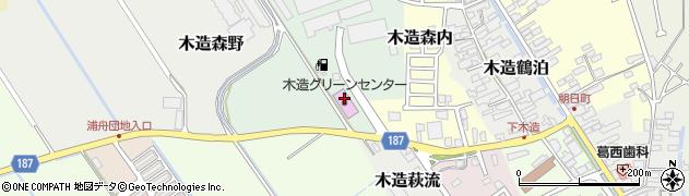 青森県つがる市木造森山周辺の地図