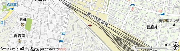 青森県青森市大野(長島)周辺の地図