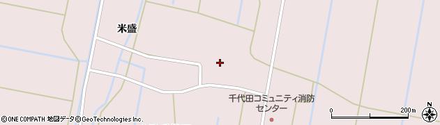 青森県つがる市木造千代田末楽周辺の地図