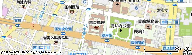 青森県周辺の地図